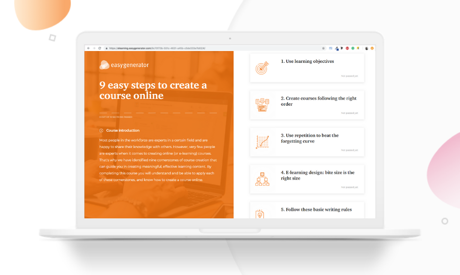 9 easy steps to create a course online